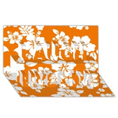 Orange Hawaiian Laugh Live Love 3D Greeting Card (8x4)