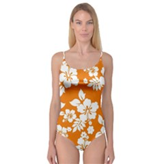 Orange Hawaiian Camisole Leotard