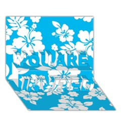 Light Blue Hawaiian YOU ARE INVITED 3D Greeting Card (7x5)