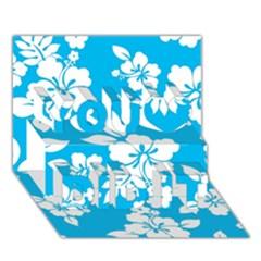 Light Blue Hawaiian You Did It 3D Greeting Card (7x5)