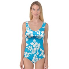 Light Blue Hawaiian Princess Tank Leotard