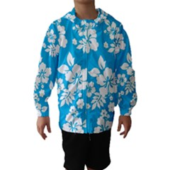 Light Blue Hawaiian Hooded Wind Breaker (Kids)