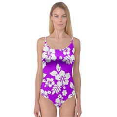 Purple Hawaiian Camisole Leotard