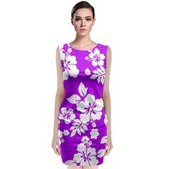 Purple Hawaiian Classic Sleeveless Midi Dress