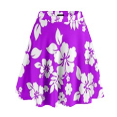 Purple Hawaiian High Waist Skirt