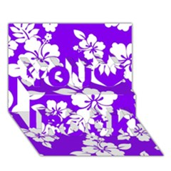 Violet Hawaiian You Rock 3D Greeting Card (7x5)
