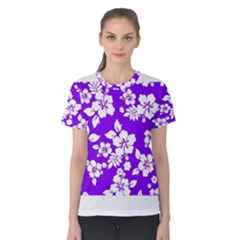 Violet Hawaiian Women s Cotton Tee