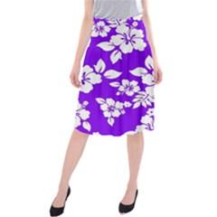 Violet Hawaiian Midi Beach Skirt