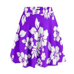 Violet Hawaiian High Waist Skirt