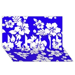 Deep Blue Hawaiian #1 MOM 3D Greeting Cards (8x4)