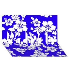 Deep Blue Hawaiian #1 DAD 3D Greeting Card (8x4)