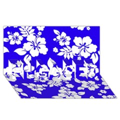 Deep Blue Hawaiian ENGAGED 3D Greeting Card (8x4)