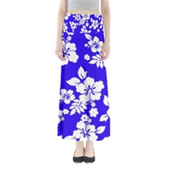 Deep Blue Hawaiian Maxi Skirts
