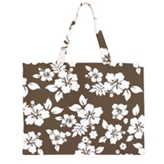 Sepia Hawaiian Large Tote Bag