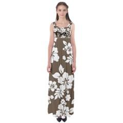 Sepia Hawaiian Empire Waist Maxi Dress