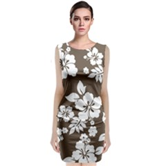 Sepia Hawaiian Classic Sleeveless Midi Dress