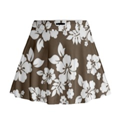 Sepia Hawaiian Mini Flare Skirt