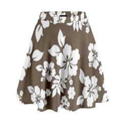Sepia Hawaiian High Waist Skirt