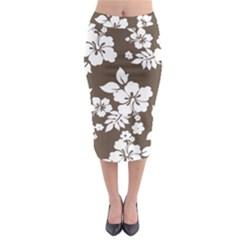 Sepia Hawaiian Midi Pencil Skirt