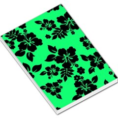 Dark Lime Hawaiian Large Memo Pads