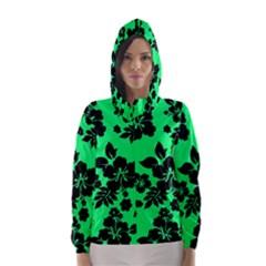 Dark Lime Hawaiian Hooded Wind Breaker (Women)