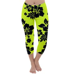 Dark Hawaiian Capri Winter Leggings