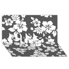 Gray Hawaiian HUGS 3D Greeting Card (8x4)