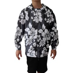 Gray Hawaiian Hooded Wind Breaker (Kids)