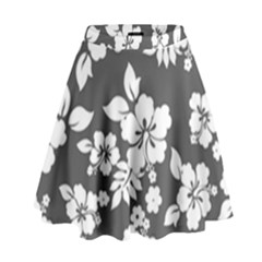 Gray Hawaiian High Waist Skirt