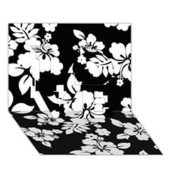 Black And White Hawaiian LOVE 3D Greeting Card (7x5)