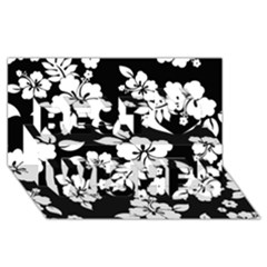 Black And White Hawaiian Best Wish 3D Greeting Card (8x4)