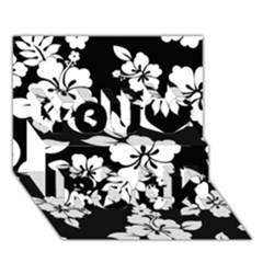 Black And White Hawaiian You Rock 3D Greeting Card (7x5)