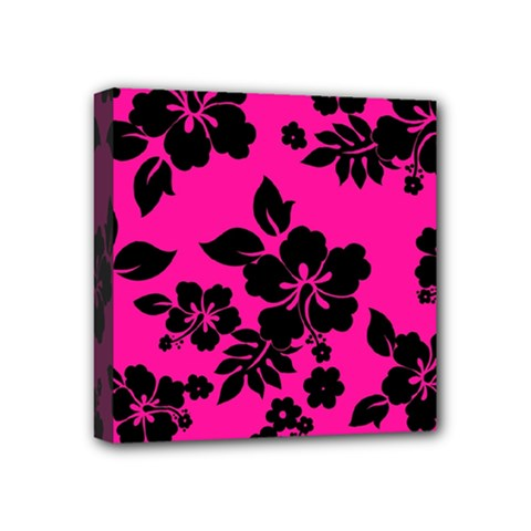 Dark Baby Pink Hawaiian Mini Canvas 4  x 4