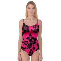 Dark Pink Hawaiian Camisole Leotard