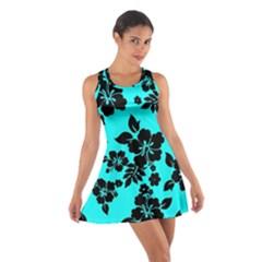 Blue Dark Hawaiian Racerback Dresses