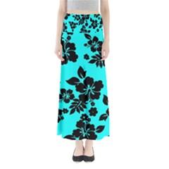 Blue Dark Hawaiian Maxi Skirts