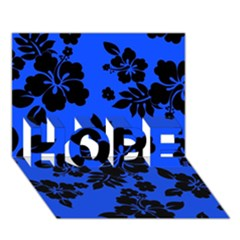 Dark Blue Hawaiian HOPE 3D Greeting Card (7x5)