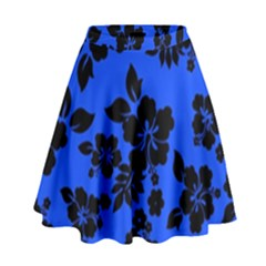 Dark Blue Hawaiian High Waist Skirt