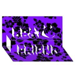 Violet Dark Hawaiian Best Friends 3D Greeting Card (8x4)