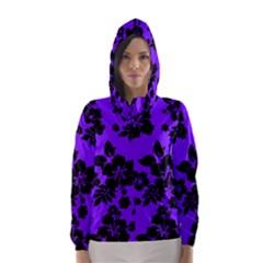 Violet Dark Hawaiian Hooded Wind Breaker (Women)