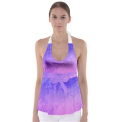 Ombre Purple Pink Babydoll Tankini Top