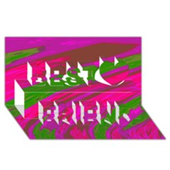Swish Bright Pink Green Design Best Friends 3D Greeting Card (8x4)