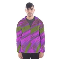 Swish Purple Green Hooded Wind Breaker (Men)
