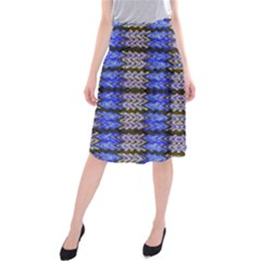 Pattern Tile Blue White Green Midi Beach Skirt