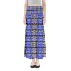 Pattern Tile Blue White Green Maxi Skirts