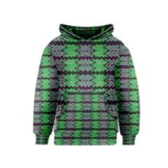 Pattern Tile Green Purple Kids  Pullover Hoodie