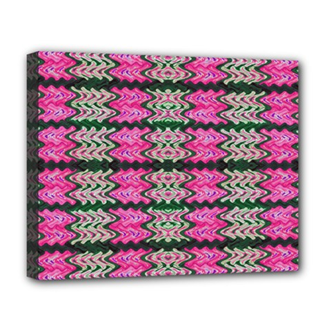 Pattern Tile Pink Green White Deluxe Canvas 20  x 16