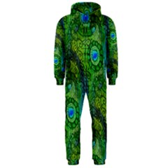Emerald Boho Abstract Hooded Jumpsuit (Men)