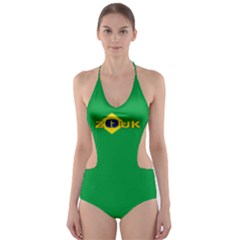 brazil flag ZOUK Cut-Out One Piece Swimsuit