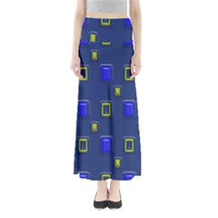 3d Rectangles                        Women s Maxi Skirt